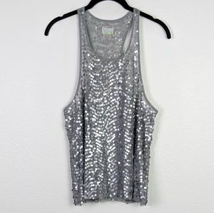 Intimately Free People Silver Sequin Crop Top